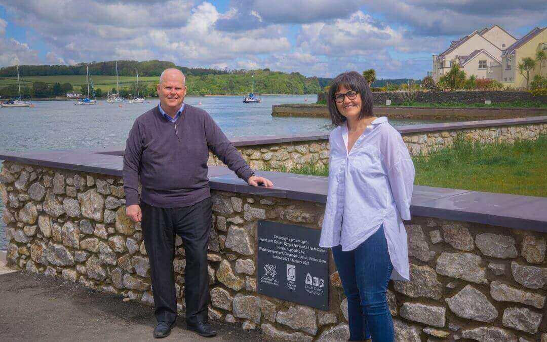 £700,000 flood alleviation scheme completed in Felinheli